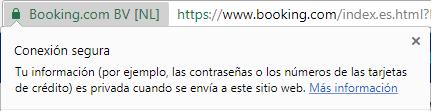 Booking tiene HTTPS